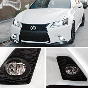 iJDMTOY LH RH OEM Spec Xenon White LED Fog Lights For Lexus or Toyota