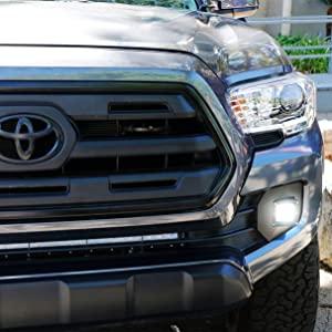 iJDMTOY LED Pod Light Fog Lamp Kit For 2016-up Toyota Tacoma