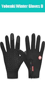 Yobenki Ski Gloves,Winter Waterproof Snow Gloves Non-Slip Breathable Cold Weather Gloves for Mens Womens Ladies and Kids Skiing,Snowboarding