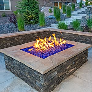 fire-pit fire-glass fire-place fire-rock stone reflective tempered fyre lava décor safe bag crystals