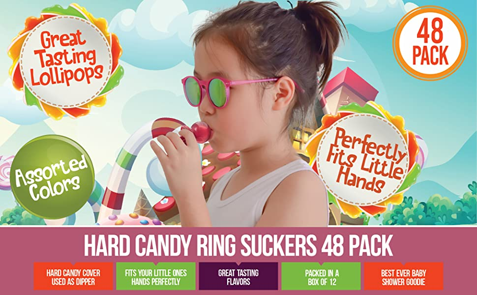 pacifier pop hard candy suckers bulk kosher candies engagement ring party favors treat green red