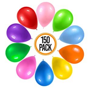 150 assorted colors party balloons helium balloons birthday picnic decoration party favor