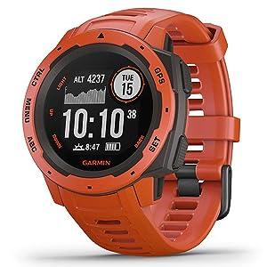 garmin instinct rugged outdoor watch gps glonass galileo heart rate monitor toughest u.s. military