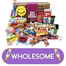 get well soon candy gift assortment variety care package for man woman college student boy girl