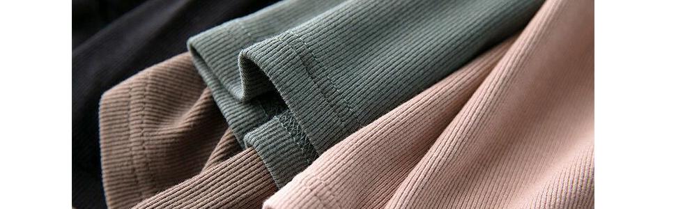 95% Fine Rib Rayon 5% Spandex onrush aesthetics Soft fabric for a comfortable feminine touch