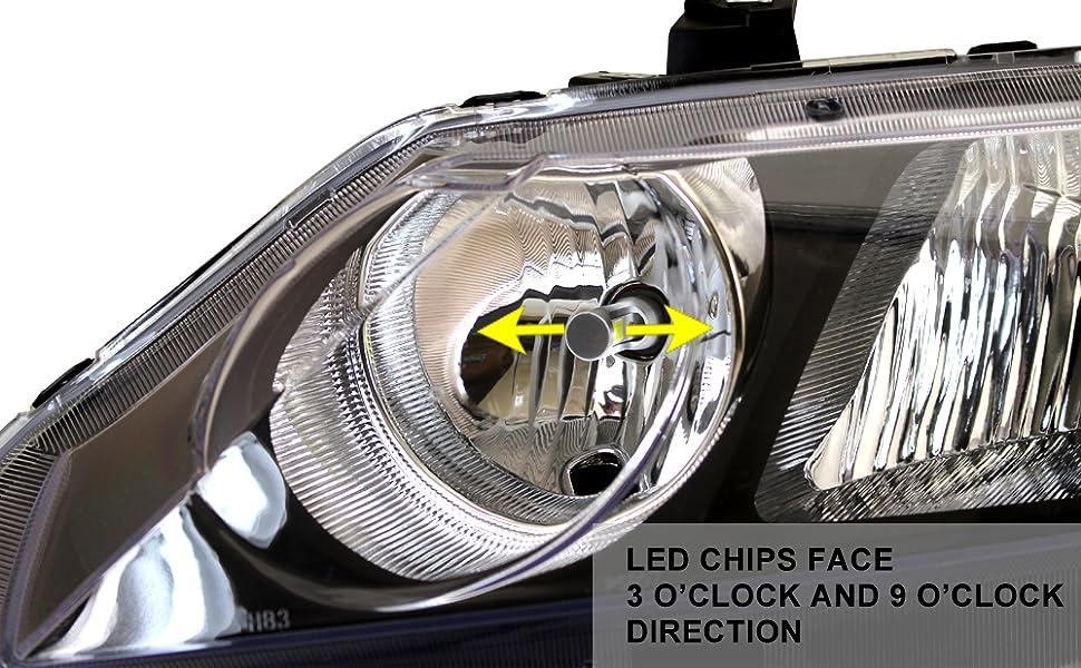 9005 led headlight bulb install