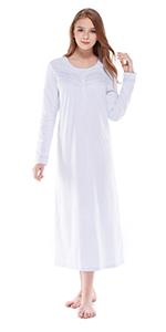 Women Nightgowns Long Sleeve K18020