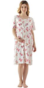 Cotton Women Nursing Dress