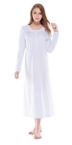 Long Sleeve Nightgowns for women