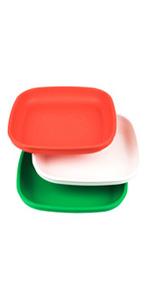 kid's flat plate; children's plate; Kid's plate; toddler's plate; toddler's plastic plate