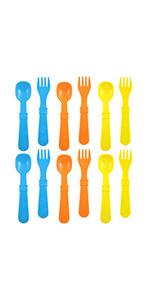 Children's utensils; kid's utensils; plastic utensils; toddler utensils; plastic kid's utensils
