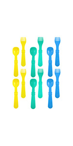 Children's utensils; kid's utensils; plastic utensils; toddler utensils; plastic kid's utensils