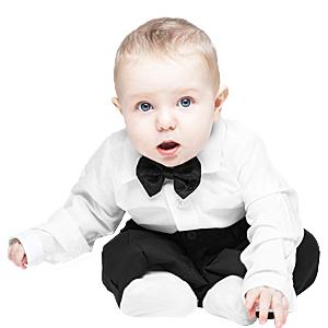Baby Boy Dress Shirt Bodysuit