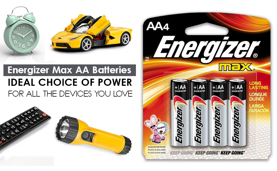 nergizer Max AA Batteries AA4 Alkaline Battery 32 Pack flashlights toys clocks remote smoke alarms