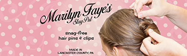 Marilyn Faye's crinkled hair pins for buns are strong and durable.