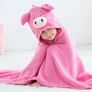 pig baby bath towels