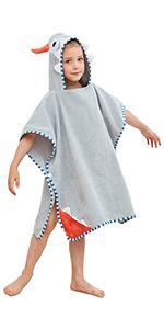 grey poncho towels