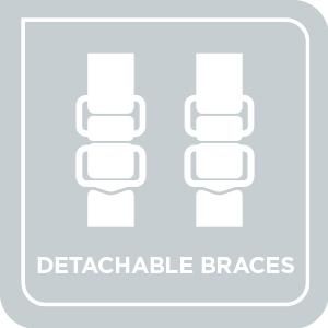 Adjustable & Detachable Braces