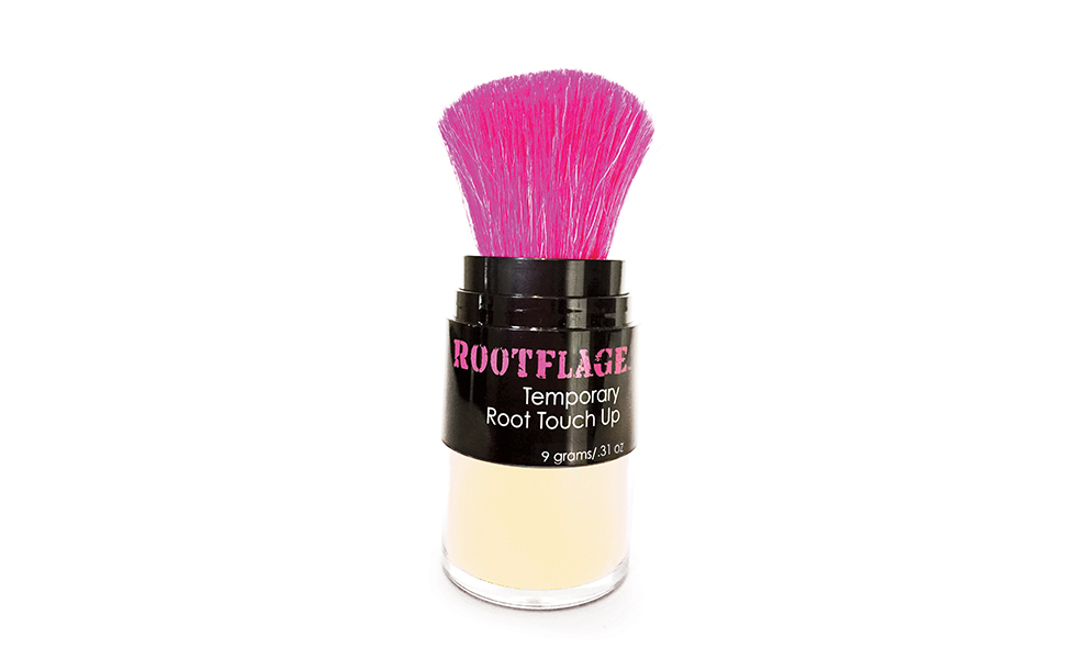 Rootflage Instant Blonde Root Touch Up Hair Powder Temporary Hair Color Root Concealer Thinning Hair Powder And Concealer And Applicator With Detail Brush Included 31 Oz 03 Cool Blonde