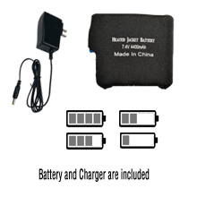 heated jacket battery and charger
