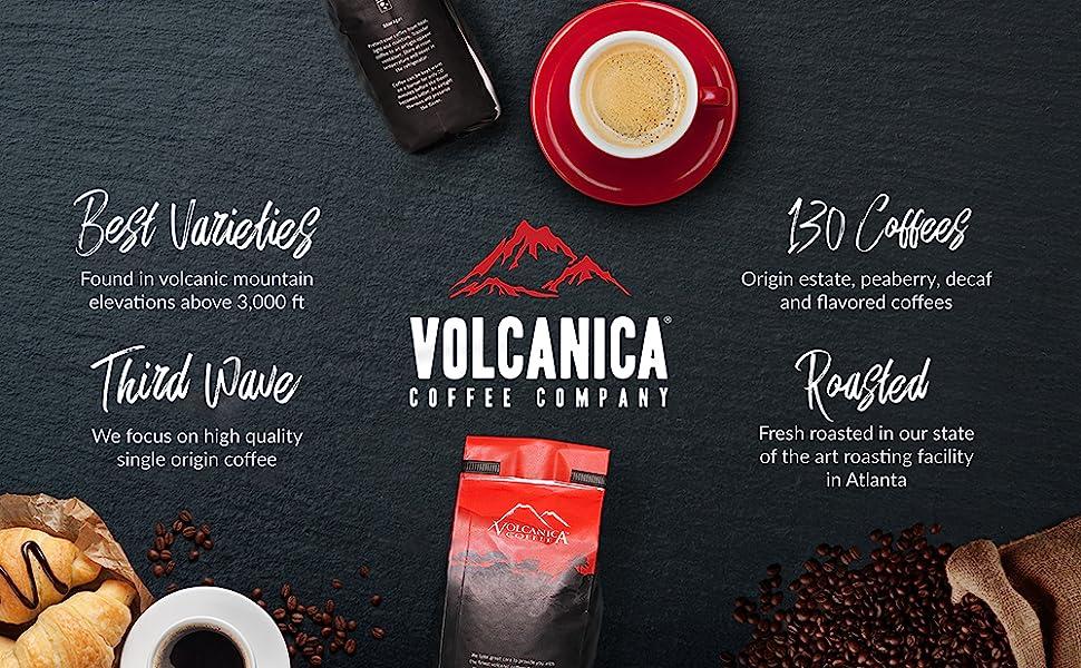 Volcanica gourmet coffee beans