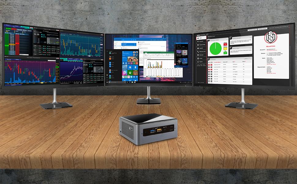 Intel NUC NUC8i5BEH Mini PC/HTPC i5 8th Gen multpile Displays. 3 displays. Triple monitors.