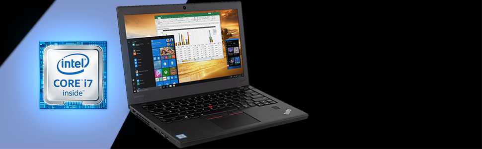 "Lenovo ThinkPad X270 Notebook, 12.5"" IPS HD CPU info. Processor specs Intel i7-6600U 2.6 3.4 DDR4"