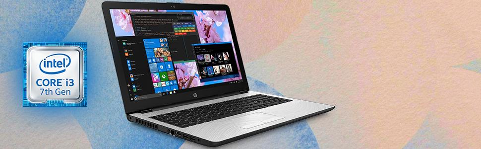 "HP 15 Notebook 15.6"" i3-7100U Windows 10 Pro CPU info. Processor information 2.4Ghz 3MB SmartCache"