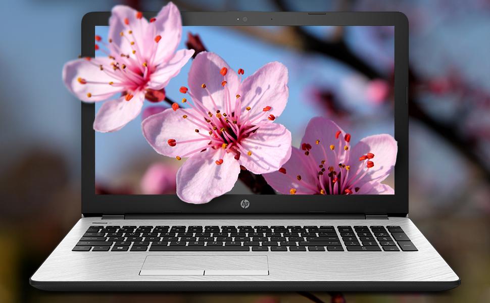 "HP 15 Notebook 15.6"" i3-7100U Windows 10 Pro screen image with vivid lifelike clarity HD SVA matte"