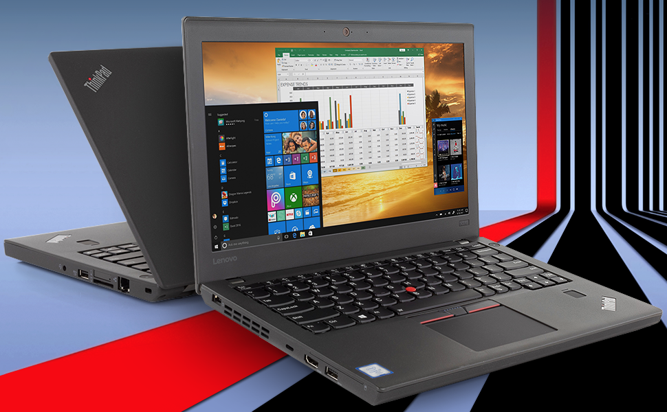 "Lenovo ThinkPad X270 Notebook, 12.5"" IPS HD feature image with bright bold colors"