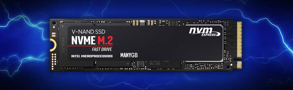 Intel NUC NUC8I7HVK VR Windows 10 Pro NVMe M.2 drive. Very fast SSD