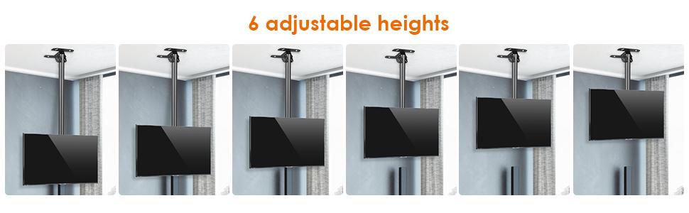 6 adjustable heights