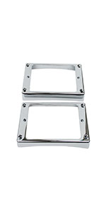 Guyker 2Pcs Metal Curved Pickup Mounting Rings for LP Style Guitar