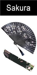 chinese japanese large bamboo folding hand rave fan for women festival Tai Chi Kung Fu