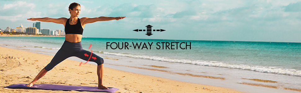 four way stretch beach running jogging legs arms athletic gym skill training