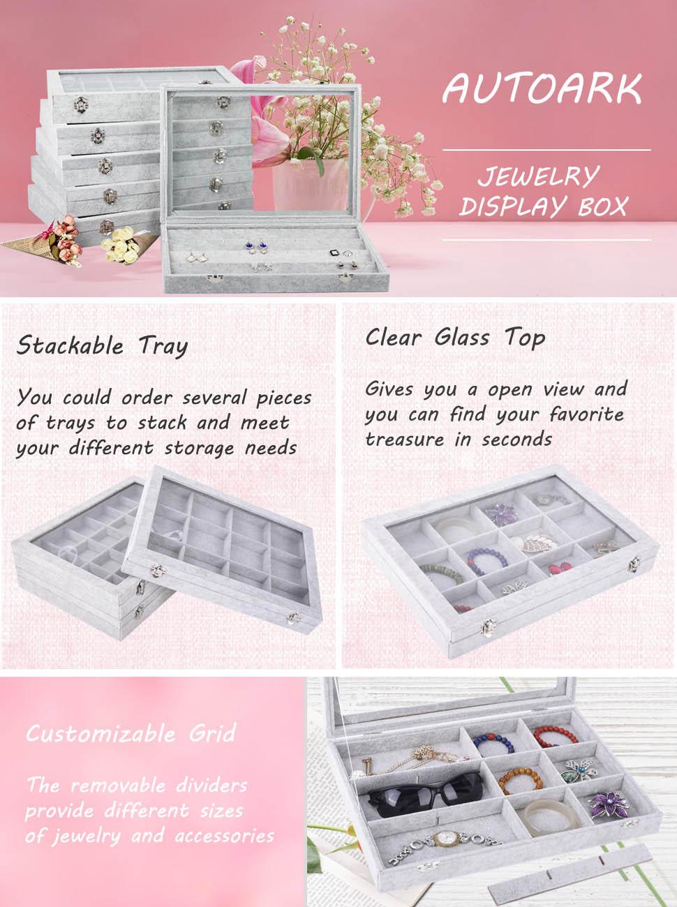 jewelry trays earing organizer tray compartment tray linen jewelry tray jewelry drawer organizer