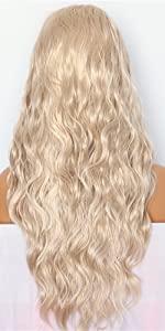Blonde White Wig