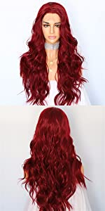 Red Lace Wig