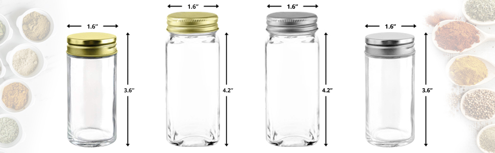 AIRTIGHT EASILY REMOVABLE LIDS: deluxe stainless-steel storage containers your herbs spices fresh