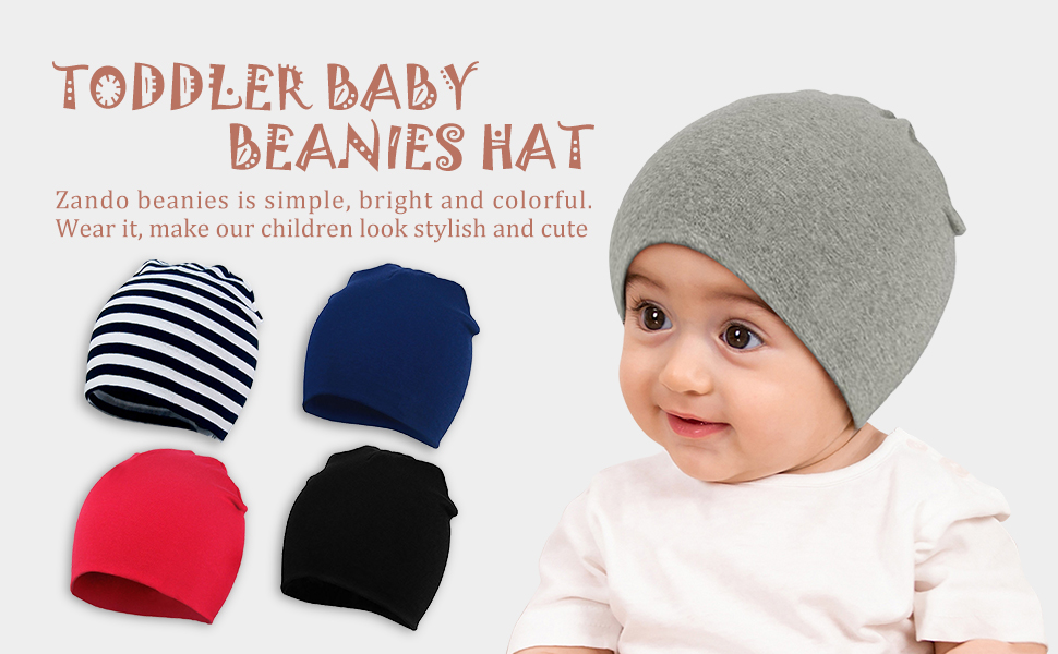 Newborn Baby Hats for Boys Girls 3 Pack Hospital Cotton Caps Beanie Solid Infant Knot Hats Autumn Winter 0-6 Months