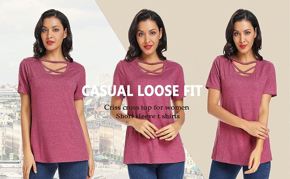 criss cross shirts for women