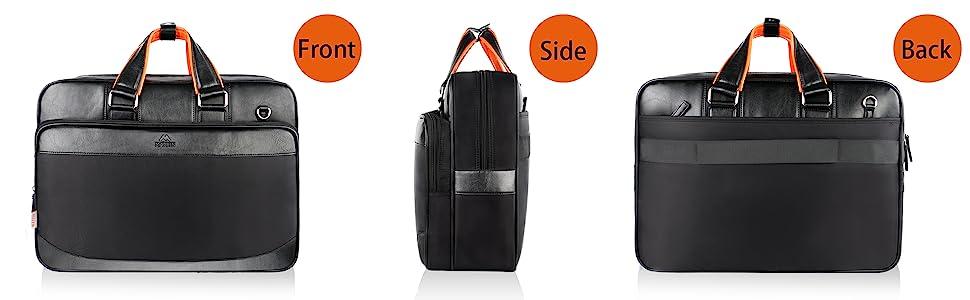 Laptop bag for men side bag water resistant traveling flight strap office