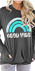Good vibes blouse with pocket