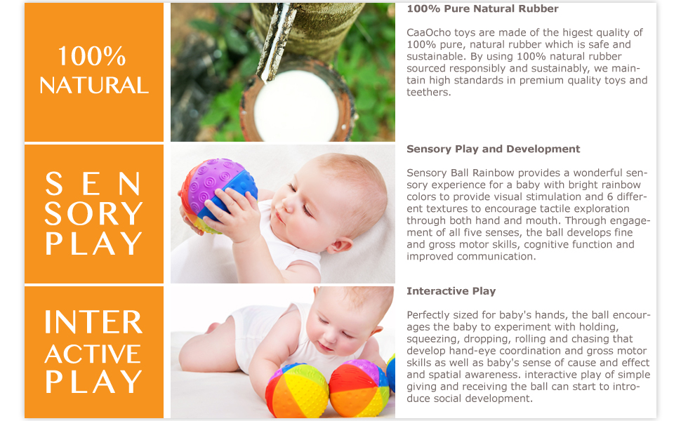 sensory toys, natural rubber sensory balls, sensory balls, sensory balls for babies, natural teether