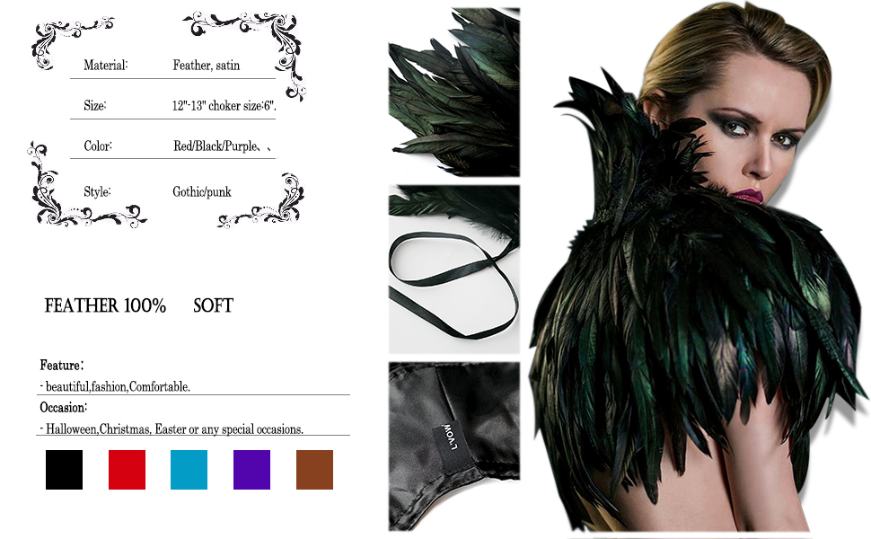 Gothic feather Poncho Iridescent