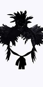 Gothic Feather Shoulder Cape