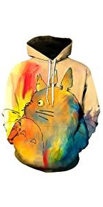 Cartoon Totoro Hoodie