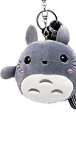 Cartoon Totoro Plush Toy Keychain