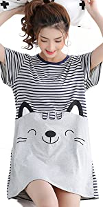 Women Cartoon Totoro Nightdress Pajamas Sleepwear Night Skirt …