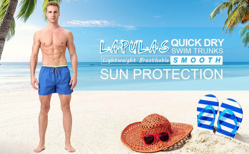 Boys Swim Trunks 12-14 Large Bathing Suit Lined Board Shorts Beach Pockets New